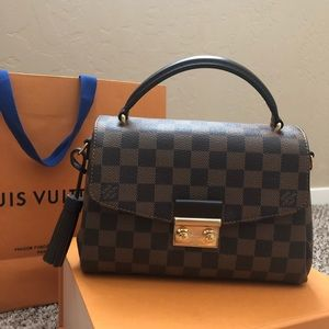 AUTHENTIC LV CROISETTE DAMIER EBENE